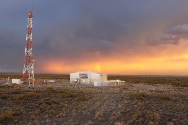 Edificio del detector de fluorescencia