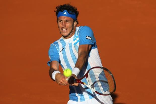Juan Mónaco igualó la serie para la Argentina.  Foto:LA NACION /Mauro Alfieri