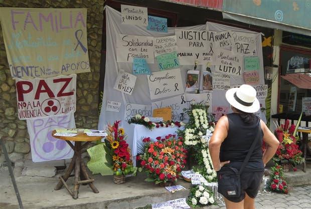 En Montañita, donde las jóvenes fueron asesinadas, reclaman justicia por las muertes