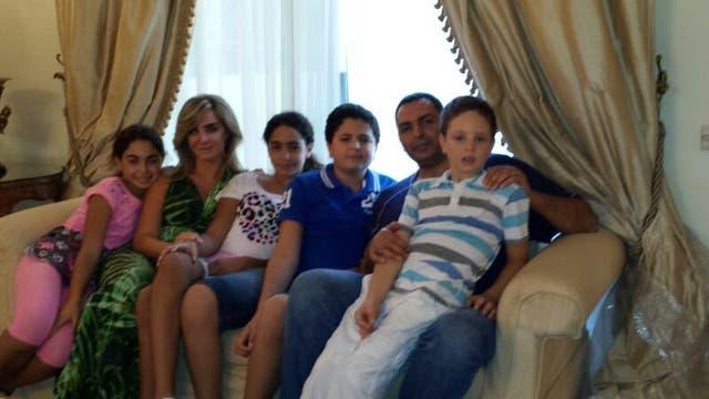 Los Nacrach, en su casa de Damasco