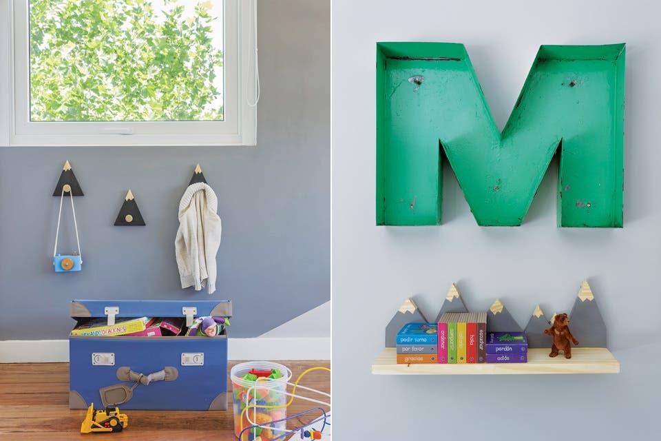 Además de decorar, la valija ofrece una superficie de apoyo y un generoso espacio de guardado a la altura de Max.  Foto:Living /Daniel Karp