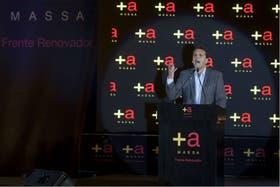 El intendente de Tigre y candidato a diputado, Sergio Massa