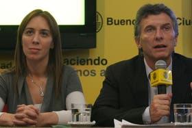 La vicejefa del gobierno de la Ciudad, junto a Mauricio Macri