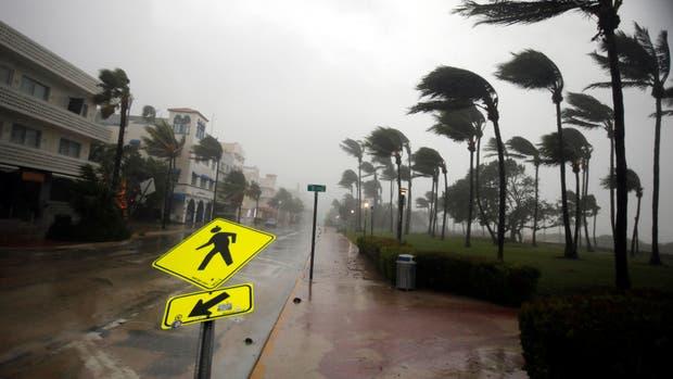 Impresionantes imágenes del huracán Irma en Miami