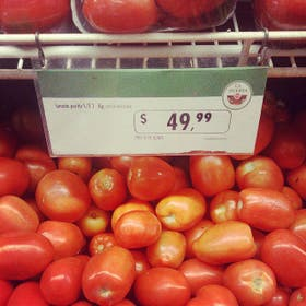 El kilo alcanzó los 50 pesos en supermercados