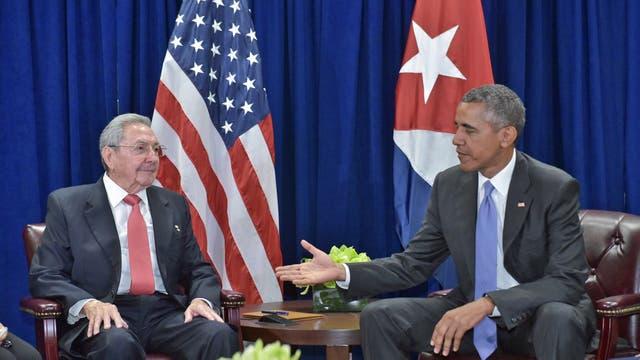 Obama y Castro, en la ONU, en septiembre pasado