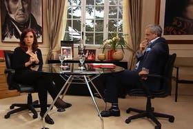 Cristina Kirchner, en la segunda entrevista de Desde Otro Lugar, con Jorge Rial