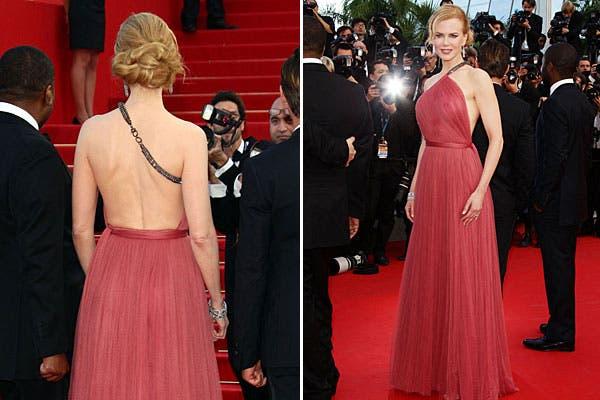 Vestido de un sólo hombro y espalda totalmente descubierta para Nicole Kidman. Foto: Celebritieswonder.net