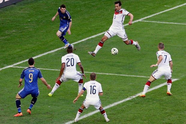 La Argentina perdió con Alemania 1-0 en la final.  Foto:AP