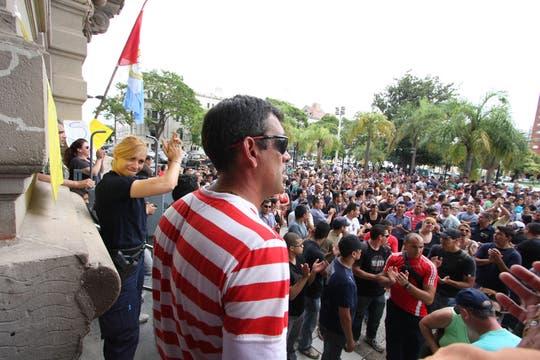 Policías protestan en Santa Fe. Foto: LA NACION / Amancio Alem