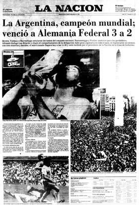 La tapa de La Nación del 30 de junio de 1986