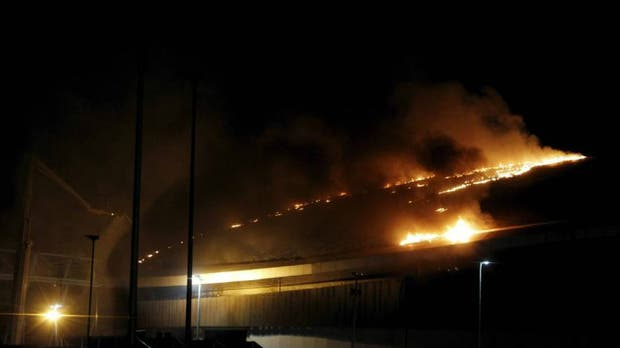 El Velódromo de Río, en llamas