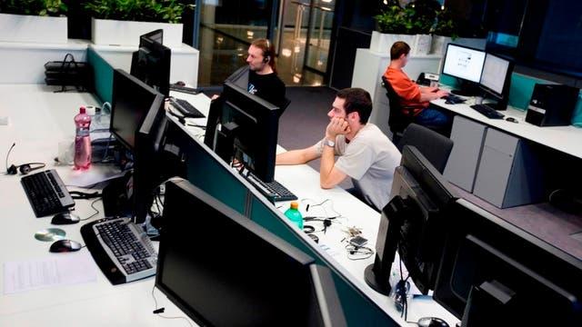 Una de las salas de monitoreo de ESET