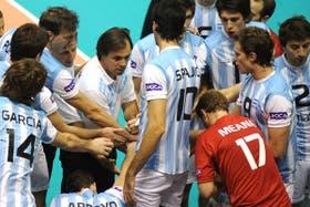 Weber y el equipo argentino en junio de 2009