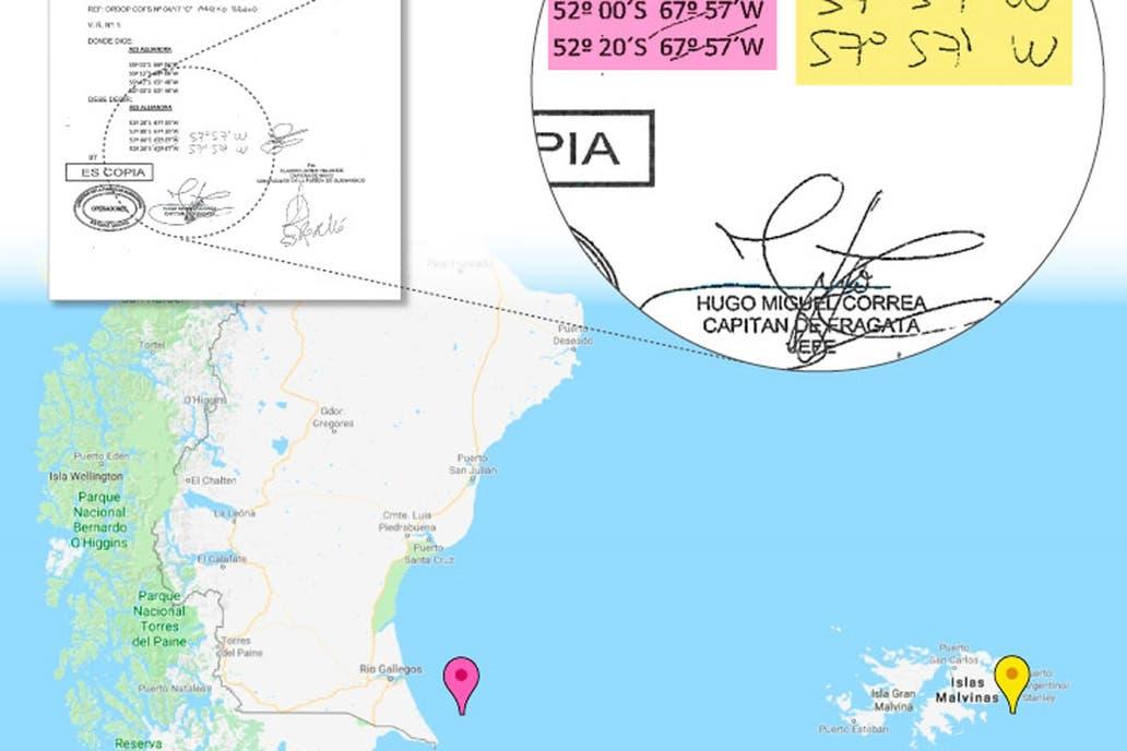 El ARA San Juan habría pasado cerca de Malvinas