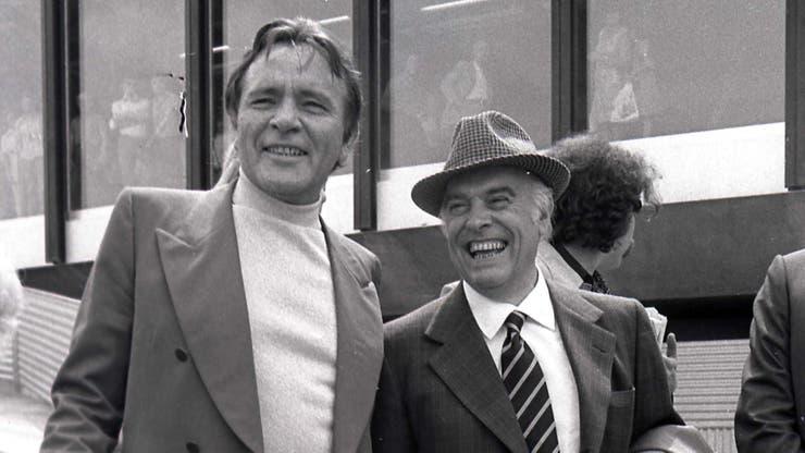Burton junto al director italiano Carlo Ponti, en 1973