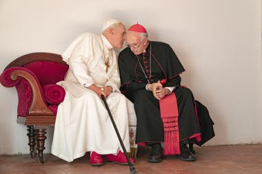 Los dos papas, con Anthony Hopkins y Jonathan Pryce
