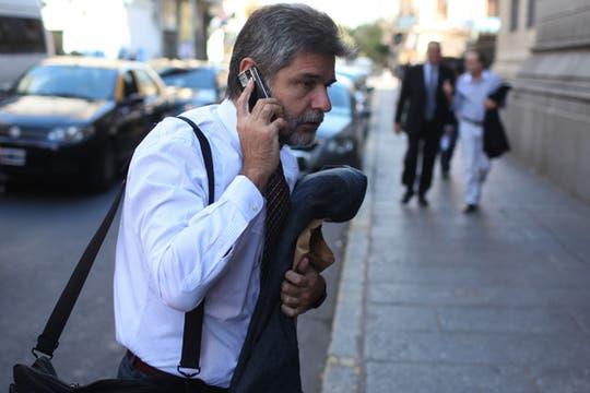 Daniel Filmus al llegar al Congreso de la Nación. Foto: LA NACION / Aníbal Greco
