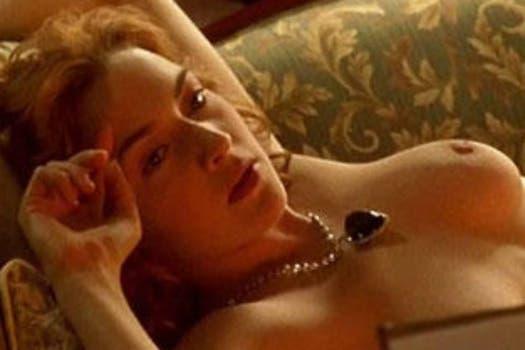 Conocida escena de Titanic, donde Kate Winslet se desnudó ante Leonardo DiCaprio. Foto: Archivo