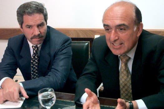 La dupla ganadora del PJ provincial en 1999: Carlos Ruckauf y Felipe Solá. Foto: Archivo