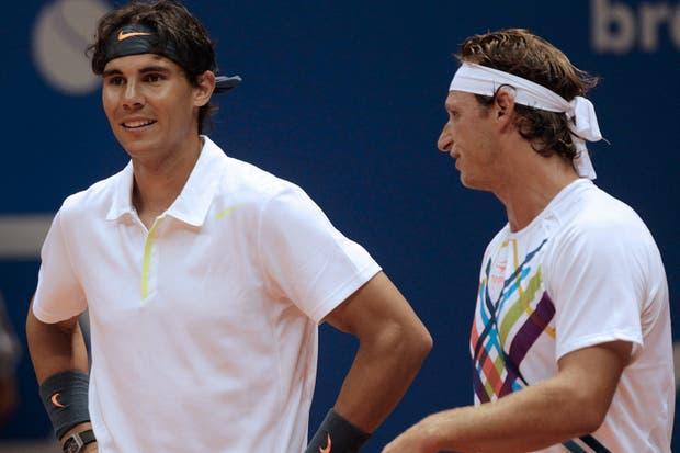 Rafa y Nalbandian jugaron este año en dobles en San Pablo