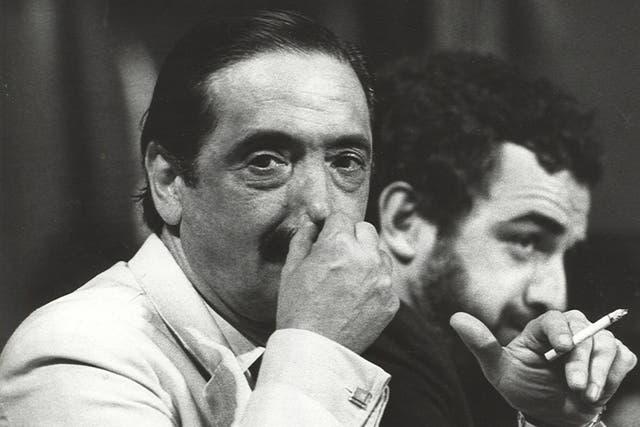 Julio César Strassera, cuando era el fiscal en el histórico juicio a las juntas militares