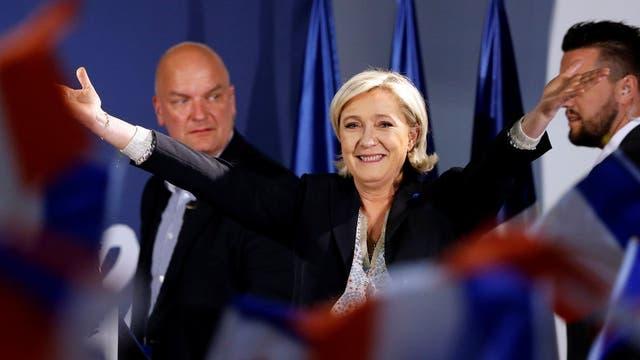 Marine Le Pen, candidata del Frente Nacional, en un acto cerca de Troyes