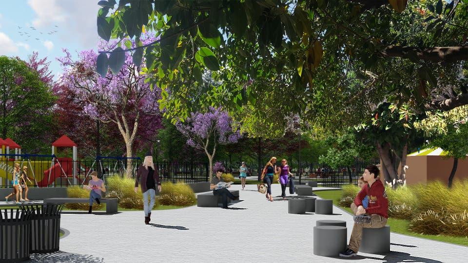 Así quedará el Parque Las Heras tras las obras. Foto: Ministerio de Ambiente