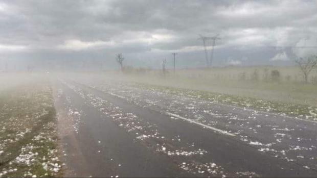 El fuerte granizo que cayó ayer en Corrientes