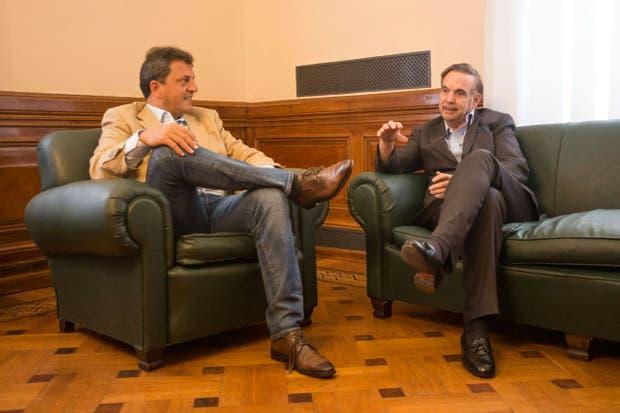 Sergio Massa y Miguel Pichetto se reunieron hoy en el Senado