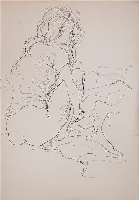 Sin título, c. 1970, tinta s/papel