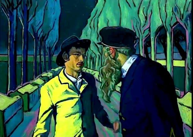 Uno de los fotogramas pintados a pincel