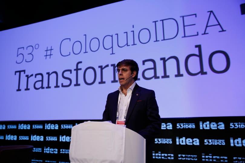 Con la presencia de la gobernadora Vidal se inauguró el 53 Coloquio de Idea Hotel Sheraton de Mar del Plata. Javier Goñi, presidente de IDEA y gerente general de Ledesma. Foto: Mauro V. Rizzi