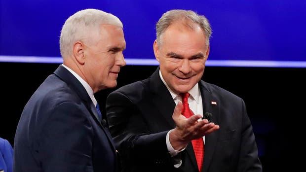 Los vicepresidentes se enfrentaron ayer en un debate en el que defendieron a sus jefes y sus propuestas de campaña