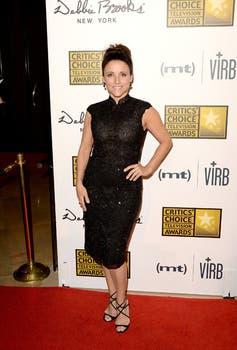 Julia Louis-Dreyfus fue elegida Mejor Actriz de Comedia en los premios de la Crítica en Los Angeles. Foto: AFP