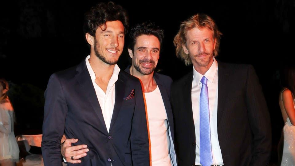 Pico Mónaco se divirtió en el evento junto a los galanes Luciano Castro y Facundo Arana. Foto: Gerardo Viercovich