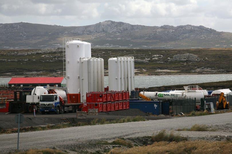 Empresas Petroleras en Puerto Argentino. Foto: LA NACION / Mauro V. Rizzi