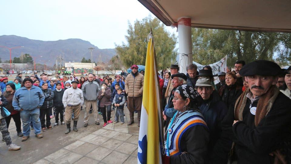 El Maitén: por ataques, una comunidad mapuche reclama que vuelva Gendarmería. Foto: LA NACION / Santiago Hafford / Enviado Especial