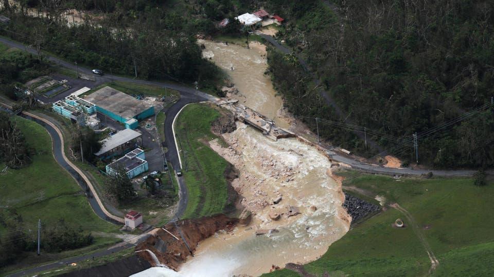 La presa de Guajataca después de María, en Quebradillas. Foto: Reuters / Alvin Báez