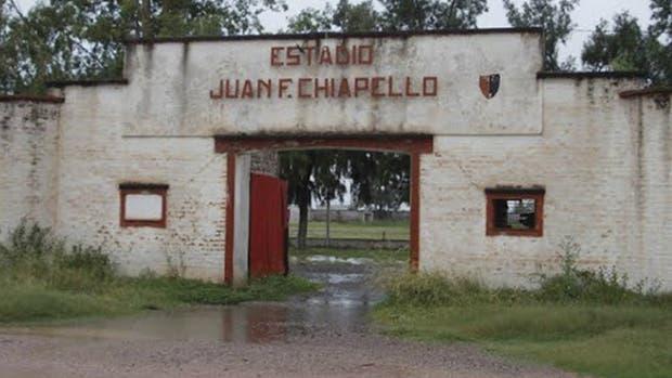 El frente del estadio Juan Chiapello, de San Lorenzo de Tostado