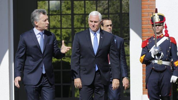 Macri y Pence exhibieron en público su sintonía, más allá de que discreparon sobre el tema Venezuela