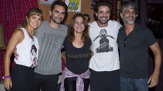 Gonzalo Heredia, Luciano Castro y Nancy Dupláa, unidos por los Stones