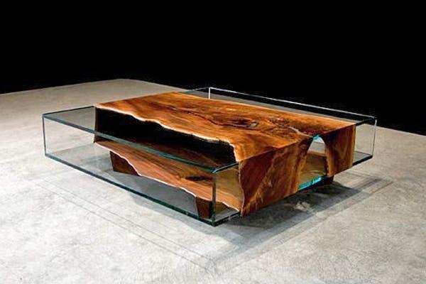 Muebles Para Baño Recubre:Para darle calidez al vidrio lo podemos combinar con muebles de cuero