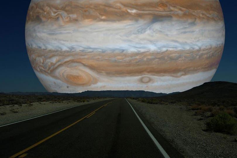 Cómo se vería Júpiter.