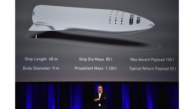 Elon Musk en el 68vo Congreso Internacional de Astronáutica, en Adelaida, donde hizo el anuncio