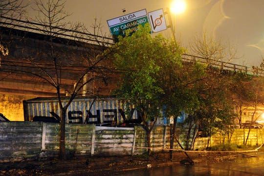Temporal de lluvia y viento en Buenos Aires. Foto: Télam