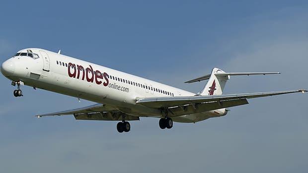 Andes es una de las aerolíneas a la que se le autorizaron las rutas aéreas