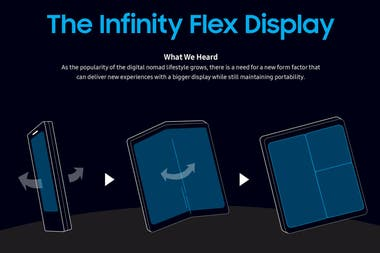Infinity Flex is the name that Samsung delivers with its fold-down technology