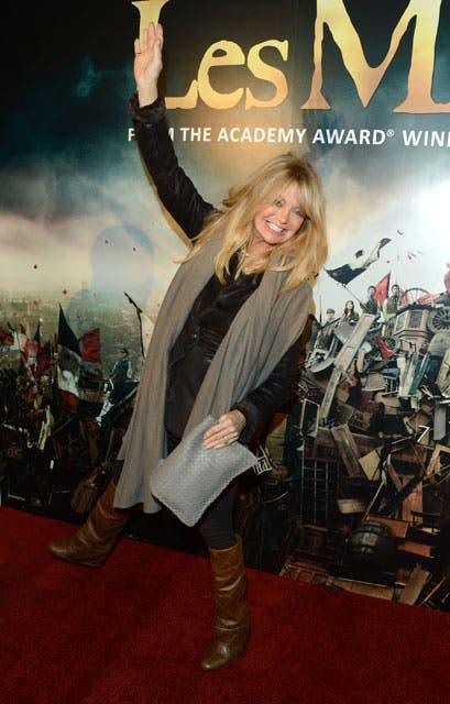 La actriz Goldie Hawn dijo presente en la premier mundial de la película. Foto: /AP