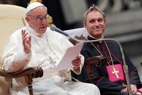 El Papa durante su discruso por la muerte de Juan XXIII